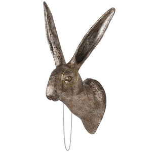 Hare With Monocle Wall Ornament