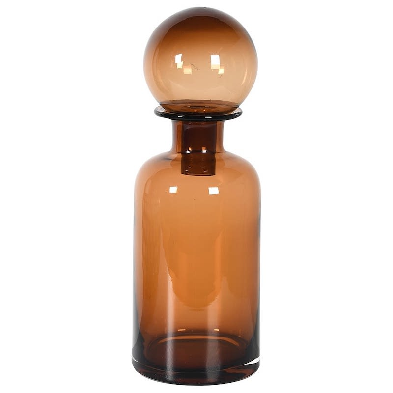mid-century-amber-coloured-glass-bottle-with-large-ball-stopper