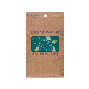 Bee's Wrap Set Of 3 Oceans Assorted Sizes