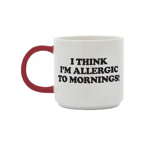 Peanuts Snoopy 'Allergic To Mornings' Mug