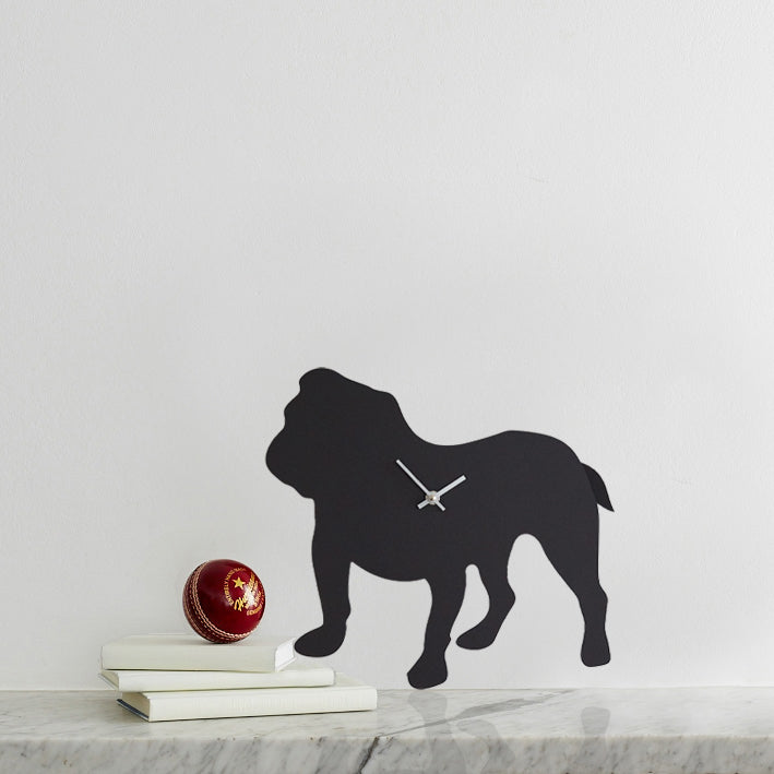British Bulldog Dog Clock