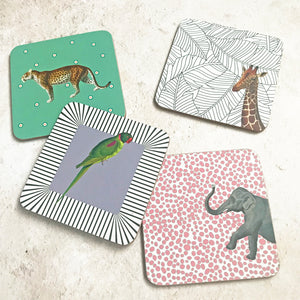 Set Of 4 Animal Coasters