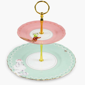 Poodle & Dachshund 2-Tier Cake Stand