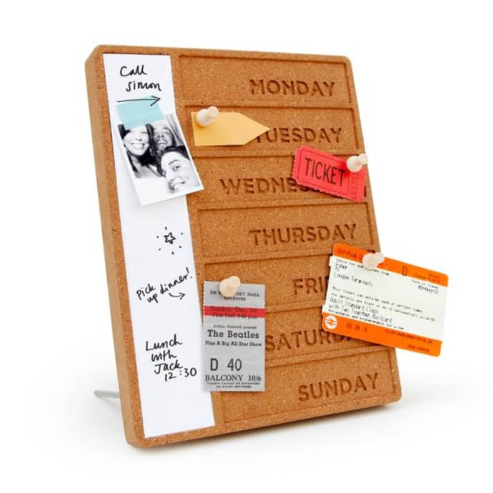 Cork Weekday Planner