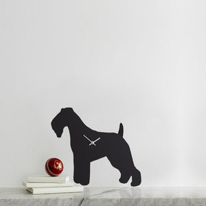 Fox Terrier Dog Clock