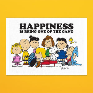 Happiness Is Being One Of The Gang Snoopy Tea Towel