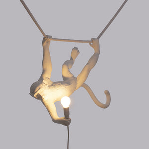 Swinging Monkey Lamp