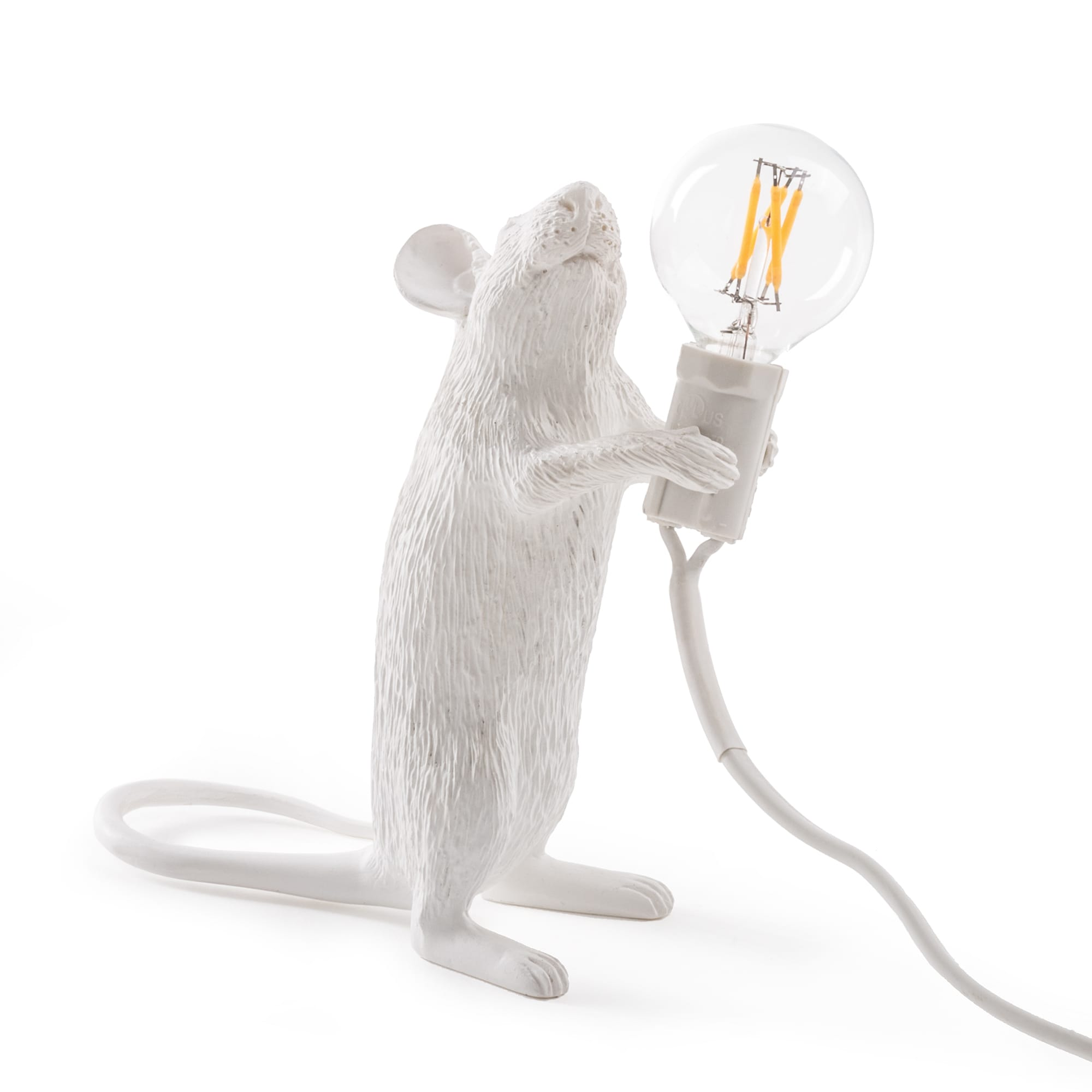 White Standing Mouse Lamp