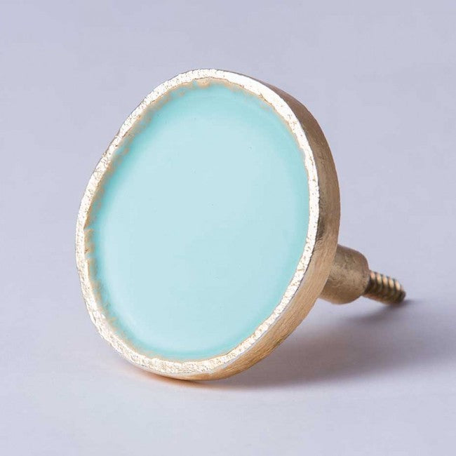 Mint Enamel & Brass Wall Hook