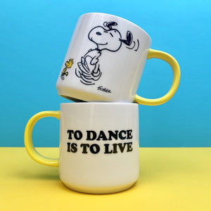 'To Dance Is To Live' Peanuts Mug