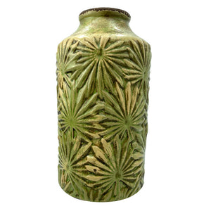 vanilla-fly-vintage-green-vase-with-relief-leaf-pattern