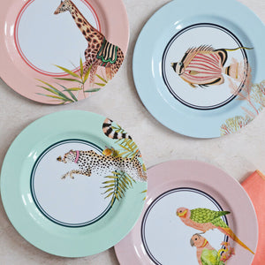 Set Of 4 Safari Picnic Side Plates