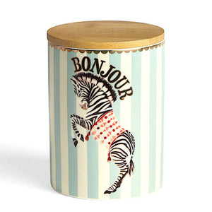 Zebra Storage Jar