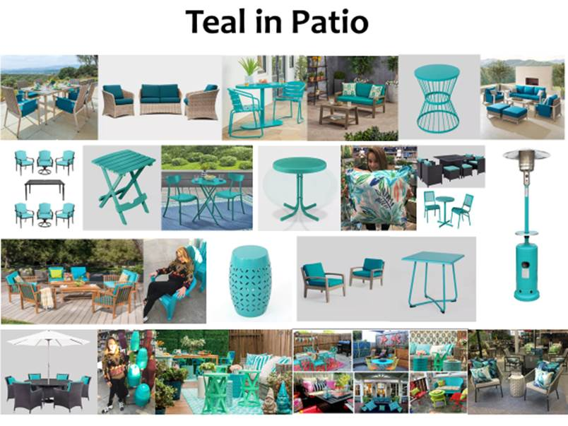 Teal in Patio