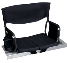 Load image into Gallery viewer, RIO Gear Bleacher Boss Folding Stadium Seat Black