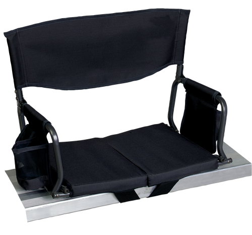 RIO Gear Bleacher Boss Folding Stadium Seat Black