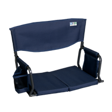 Load image into Gallery viewer, RIO Gear Bleacher Boss Folding Stadium Seat Navy