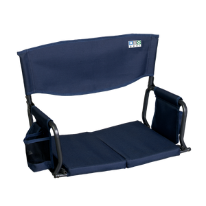 RIO Gear Bleacher Boss Folding Stadium Seat Navy