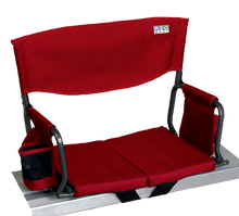 Load image into Gallery viewer, RIO Gear Bleacher Boss Folding Stadium Seat Red