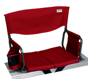 RIO Gear Bleacher Boss Folding Stadium Seat Red
