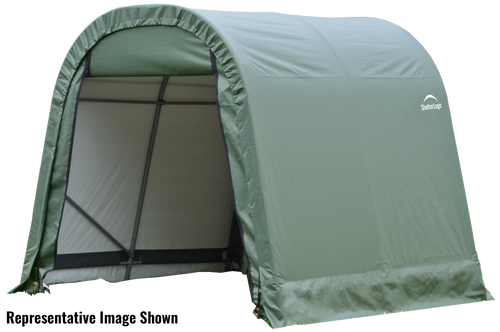 ShelterCoat 11 x 16 ft. Wind and Snow Rated Garage, Round Style Shelter, Green Cover