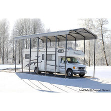 Load image into Gallery viewer, Arrow 14x51x14 DIY RV Carport Kit - Eggshell (CPH145114)
