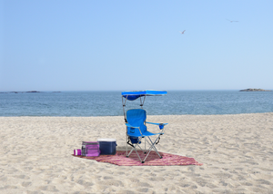 Quik Shade Full Size Shade Folding Chair - Royal Blue