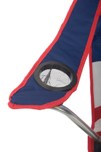 Load image into Gallery viewer, U.S. Flag Shade Folding Chair