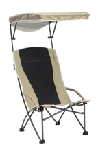 Load image into Gallery viewer, Pro Comfort High Back Shade Folding Chair - Tan/Black