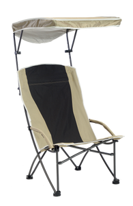 Pro Comfort High Back Shade Folding Chair - Tan/Black