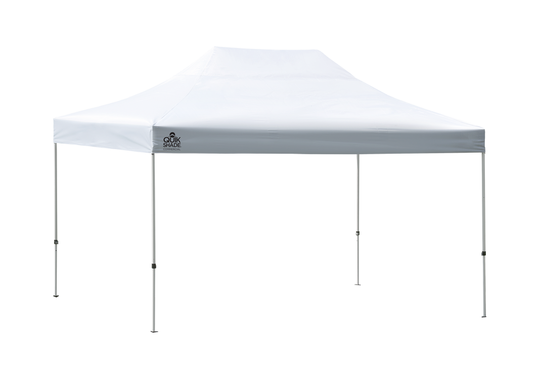 Quik Shade Commercial 10 x 15 ft White Pop Up Tent Canopy