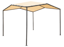 Load image into Gallery viewer, 10x10 Pacifica Gazebo Canopy Charcoal Frame and Marzipan Tan Cover