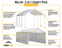 Load image into Gallery viewer, MaxAP Gazebo Canopy 2-in-1 Enclosure Kit 10 x 20 ft.