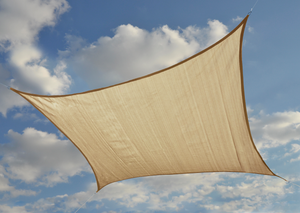 ShelterLogic 12 ft Square Shade Sail - Sand 230 GSM