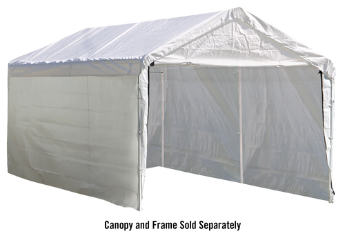 10×20 White Canopy Enclosure Kit, Fits 2