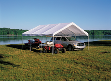 "Load image into Gallery viewer, ShelterLogic 18×20 Canopy, 2"" 8-Leg Frame, White Cover"