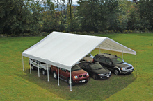 "Load image into Gallery viewer, ShelterLogic UltraMax Canopy 30 x 30 ft, 2-3/8"" Frame, White Cover, FR Rated"