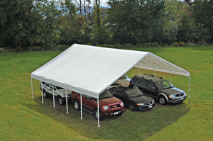 "ShelterLogic UltraMax Canopy 30 x 30 ft, 2-3/8"" Frame, White Cover, FR Rated"