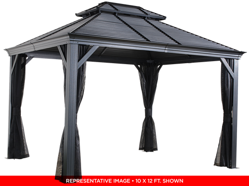 Sojag Mykonos II No.93D Gazebo Steel Roof 12 x 14 ft