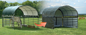 Enclosure Kit for Corral Shelter 10 x 10 ft. Green (Corral Shelter & Panels NOT Included)