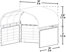 Load image into Gallery viewer, Enclosure Kit for Corral Shelter 10 x 10 ft. Green (Corral Shelter & Panels NOT Included)