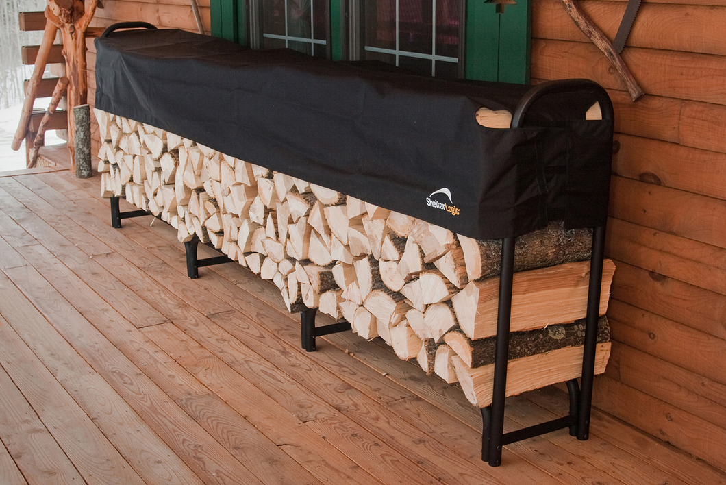 ShelterLogic Heavy Duty Firewood Rack with Cover 12 ft