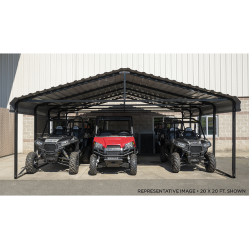 Arrow Carport 20X24X07ft - Charcoal (CPHC202407)