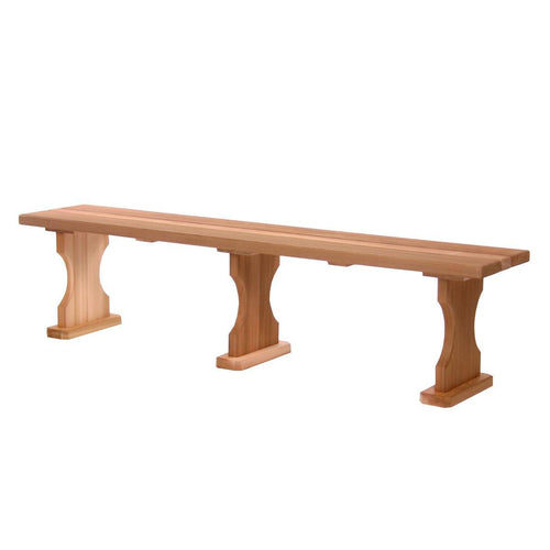 All Things Cedar 6 Foot Backless Bench