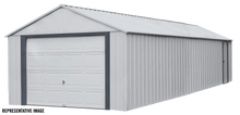 Load image into Gallery viewer, Arrow Murryhill 14 x 31 Garage, Steel Storage Building, Prefab Storage Shed