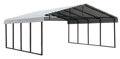 Arrow Carport 20x20x07, Eggshell