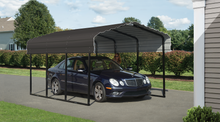 Load image into Gallery viewer, Arrow Steel Carport 10 x 15 x 7 ft. Galvanized