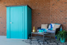 Load image into Gallery viewer, Arrow Spacemaker Patio Shed, 4x3, Teal and Anthracite