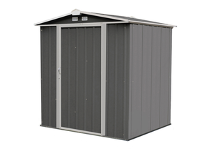 Arrow 6' x 5' EZEE Shed Low Gable Steel Storage Shed with Peak Style Roof