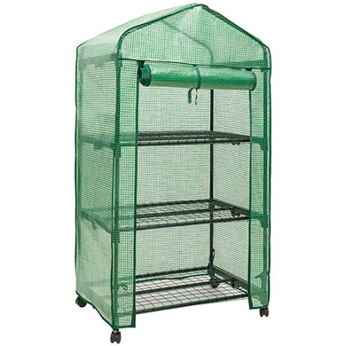 Riverstone Industries GENESIS 3 Tier Portable Rolling Greenhouse with Opaque Cover